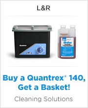 Quantrex® 140 Ultrasonic Cleaner and UltraDose® Germicidal Cleaning Solution - L&R