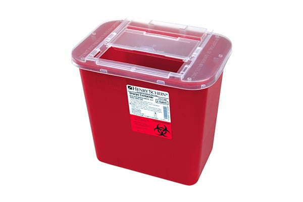 Sharps Containers with Sliding Lid
