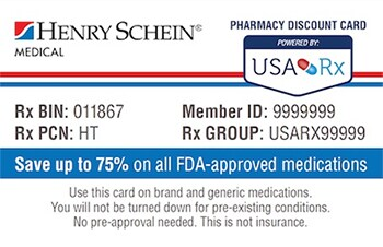 encourage a healthy lifestyle for your patients with the henry schein and usa rx card you can help them keep necessary medications within their budget