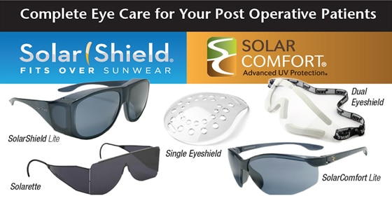4517bac40c Post Operative Eye Care. SolarShield Lite  Ideal for post-cataract ...