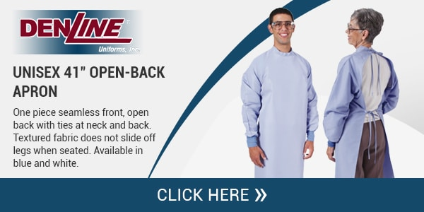 "Unisex 41"" Open Back Apron – Denline Uniforms, Inc."
