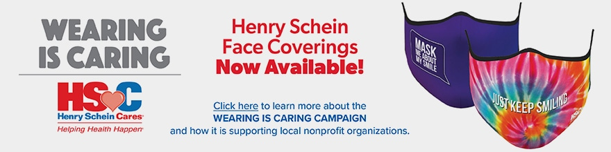 Wearing is Caring! Henry Schein Face Coverings are Now Available!