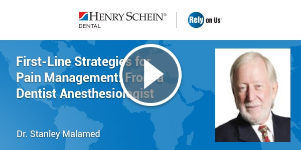 First-Line Strategies for Pain Management: From a Dentist Anesthesiologist